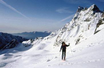 sul ghiacciaio della Roccia Viva