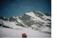 La Gran Sassiere con la sua lunga cresta est ..dal ghiacciaio di Glairettaz