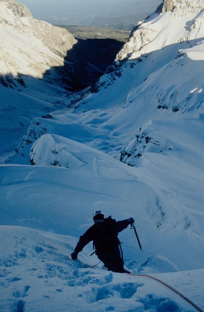 Stelvio nella parte iniziale della cresta Nord (3-1-1996)