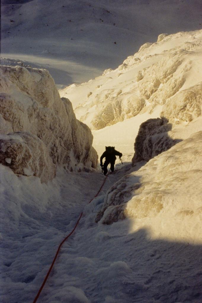 Stelvio nella parte alta del canalone (1-1-1995)