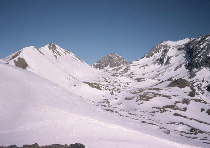 Grand Chalvet (le) da Montgenèvre, anello Vallone Rio Secco-Vallon de l'Alpet 1995-04-20