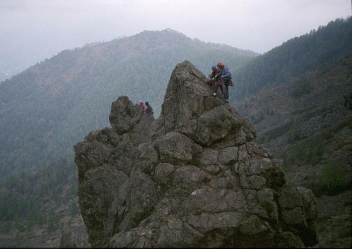 I due torrioni visti dalla cresta