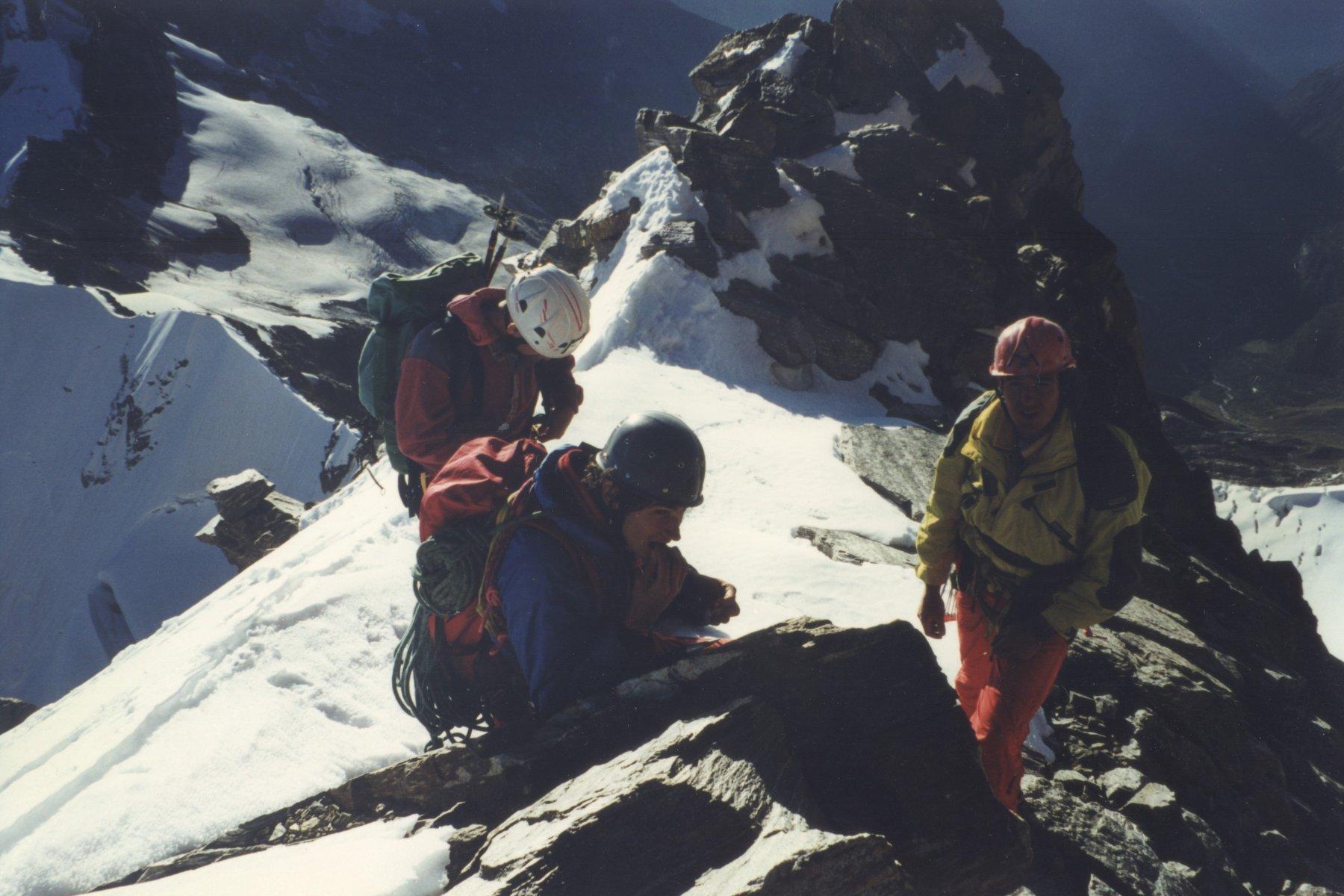 Roberto, Nicola e altro alpinista