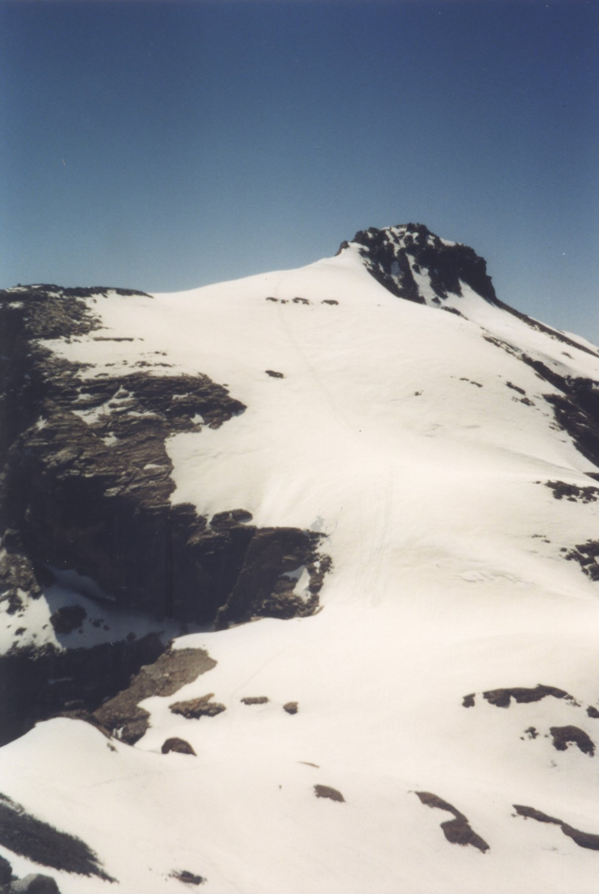 monte Cervandone in discesa
