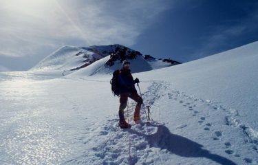 Stelvio nella parte alta del ghiacciaio (21-6-1998)