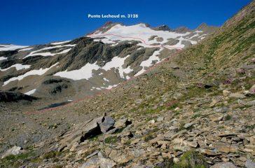 Punta Lechaud e via di salita (26-7-1998)