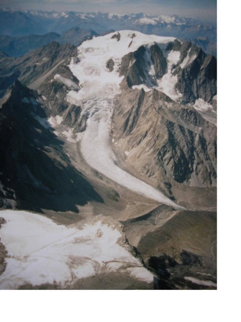 La lingua glaciale del Velan dalla Spalla Isler