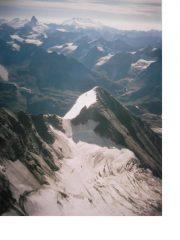 Dal Gran Combin..la Tour de Boussine.il Glacier de Croissant.Il Cervino e il Rosa completano lo sfondo
