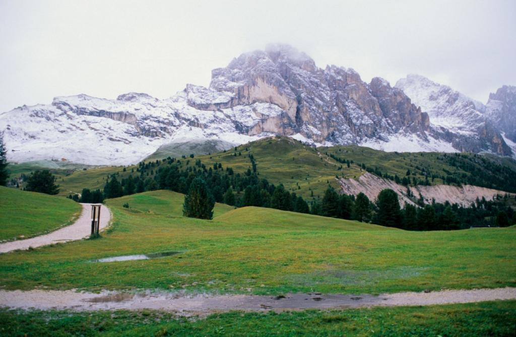 vista dal Col Raiser verso le Odle (5-9-1998)