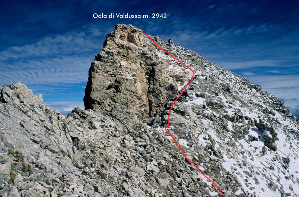 ultimo tratto del percorso dalla Forcella La Porta (6-9-1998)
