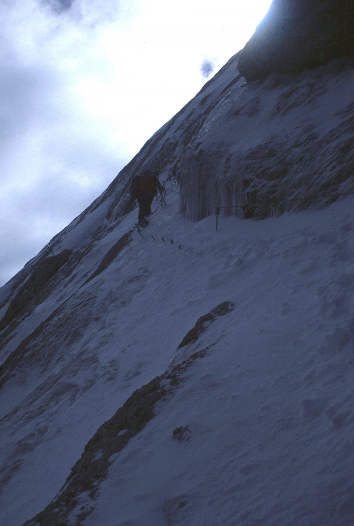 condizioni trovate lungo la ferrata della cresta Ovest (17-7-2000)
