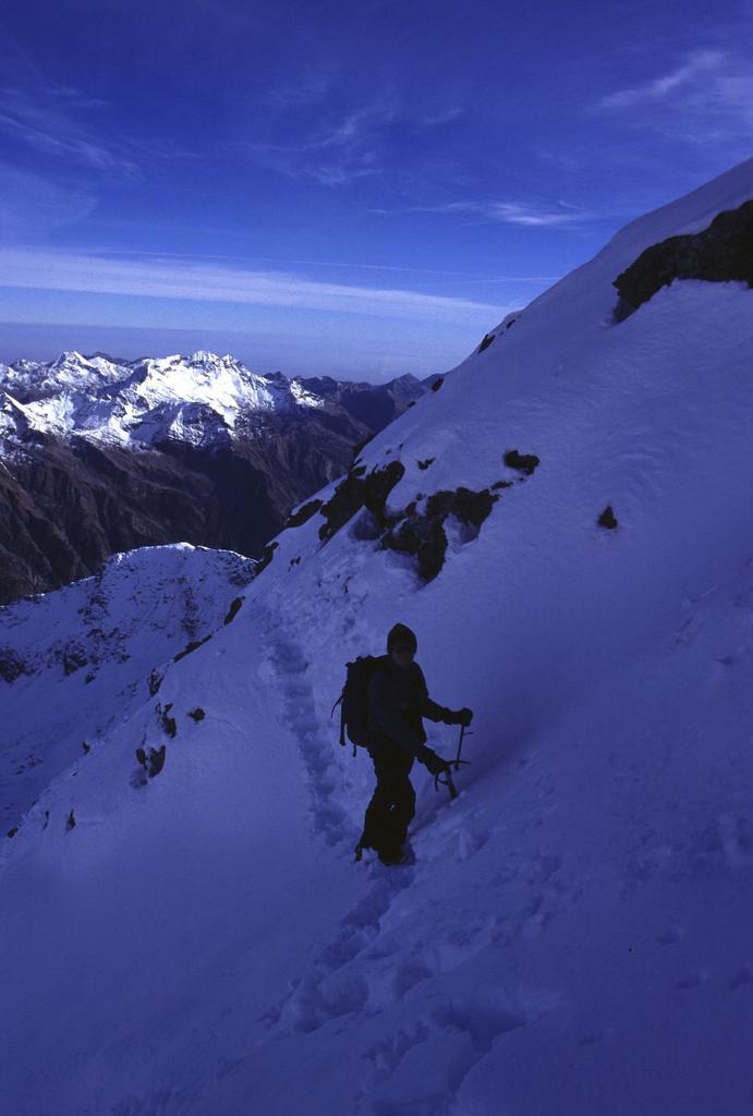 Stelvio nel traverso esposto sotto la cresta Sud (8-10-2000)