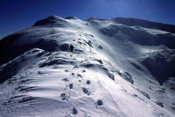 salendo lungo la cresta NO del Monte Giovo (11-2-2001)