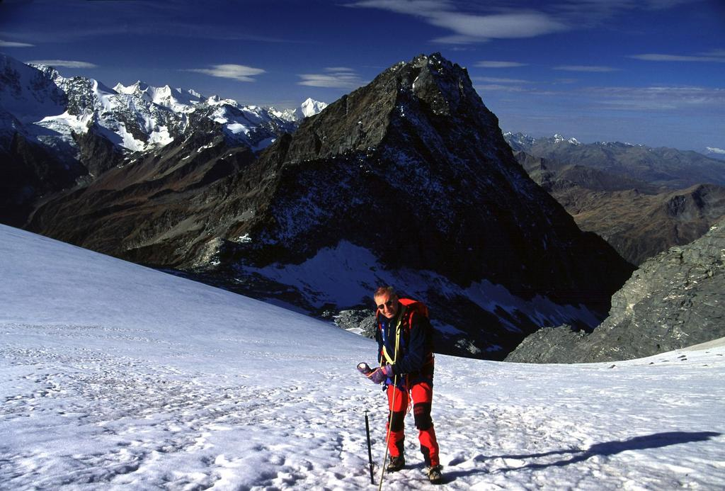 Alberto sta per raggiungere il Breithornpass (14-10-2001)