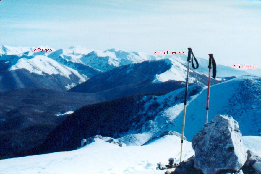 Serra Traversa vista da Nord (dal M. Pietroso)