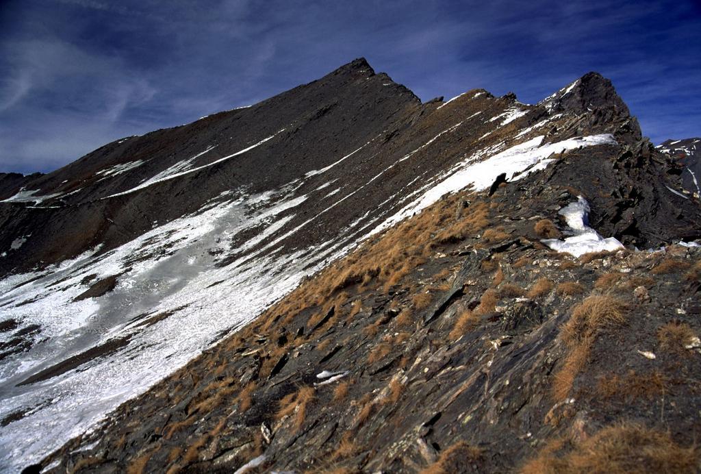 la cresta SSO della Tete de l'Autaret completamente asciutta (5-2-2002)