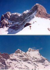 in alto la Q.2060 ai piedi del Lion d'Argentine;in basso la Tete Ronde e Les Diablerets
