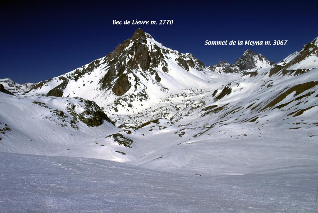 colpo d'occhio dal Vallone dell'Oronaye (24-3-2002)
