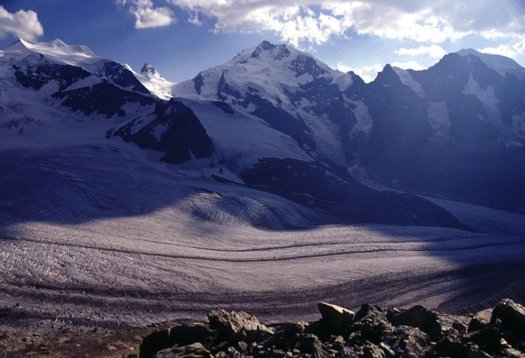 il Pizzo Bernina osservato dalla Diavolezza (21-7-2002)