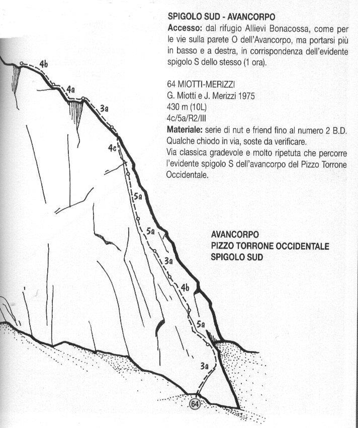 Torrone Occidentale (Pizzo) Spigolo Sud - Via Miotti - Merizzi 2002-08-13