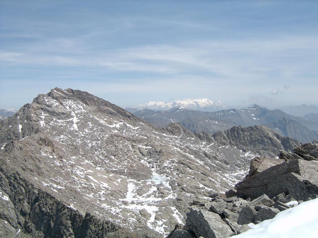 Dal Moncimour, vista su Punta Gialin e Monte Rosa