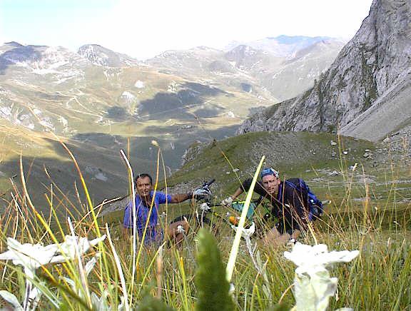 con Flavio e le stelle alpine al colle del Serour: salite finite!