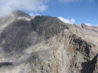 Dalla Punta della Motta, vista sulla Punta Meridionale di Valsoera