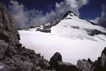 la Cima Presanella vista dal Col Freshfield (19-8-2002)