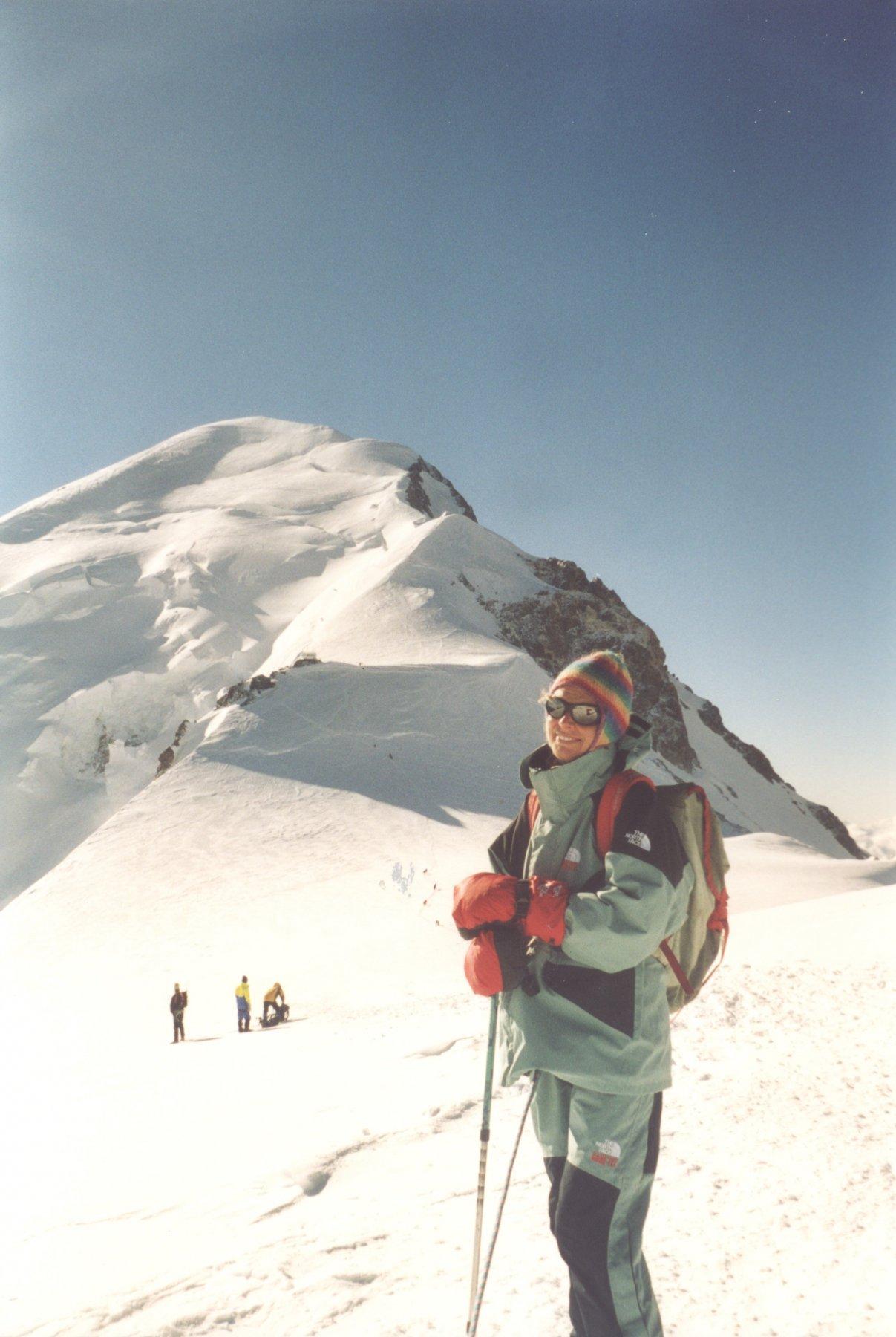Stefania e il monte Bianco