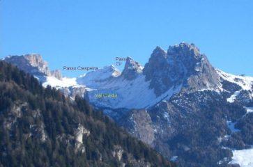 il Col Turond tra il Passo Cir ed il passo Crespeina