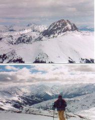Panorama dalla vetta:in alto il Grosser Rettenstein;in basso il gruppo del Venediger