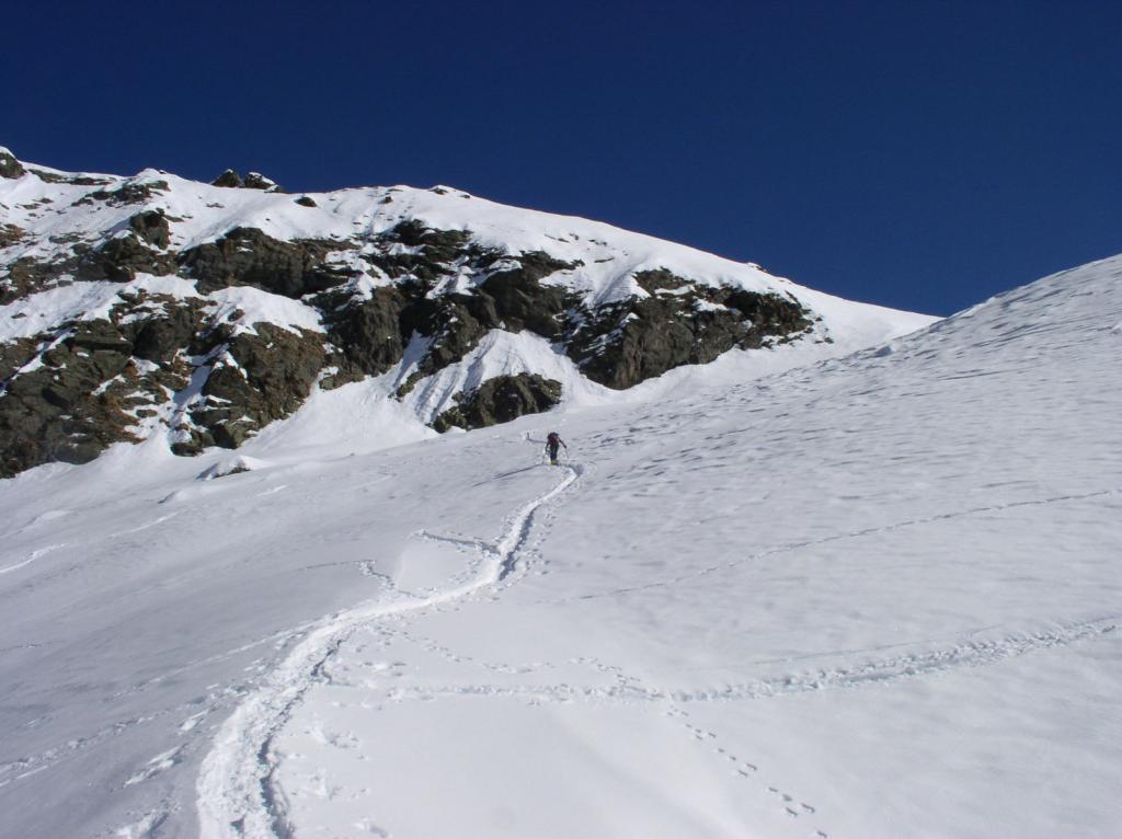 i ripidi pendii sotto il colle del Vallonetto