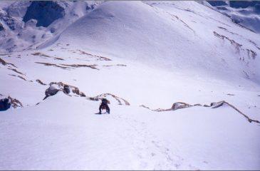 Mauro nel tratto alpinistico