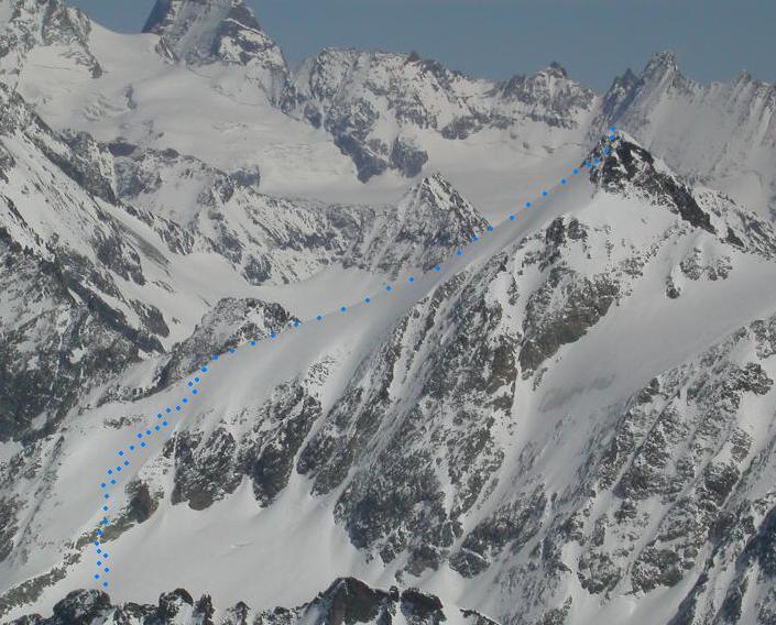 Parte finale dell'itinerario dal Mont Gelé
