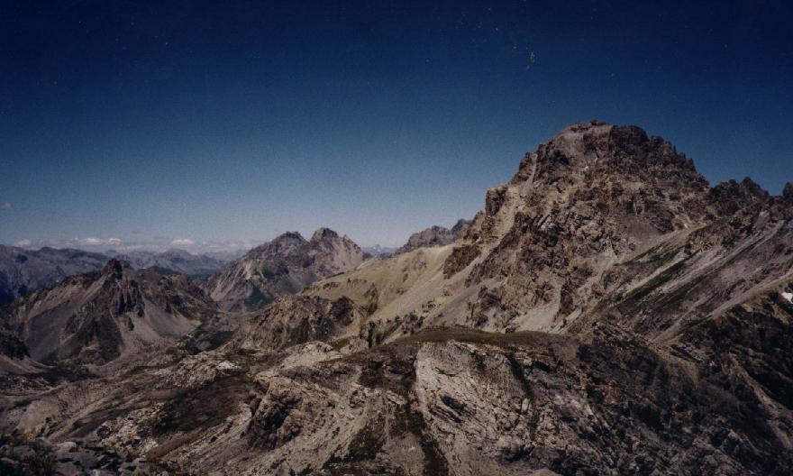 Dalla cima verso l'Oronaye