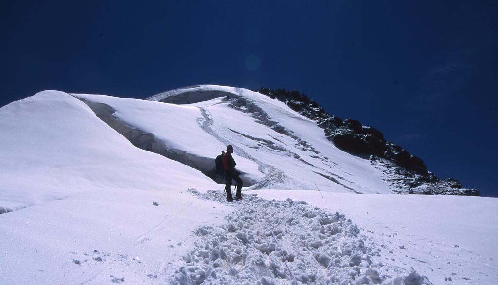 ultimo tratto di cresta prima della cima (29-6-2003)