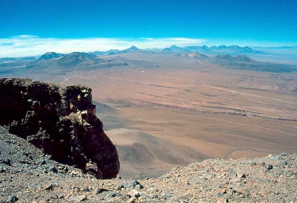 Le Ande verso Sud dalla vetta del Licancabur