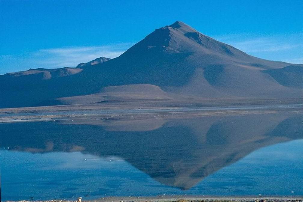 Panorama boliviano nel parco dei vulcani