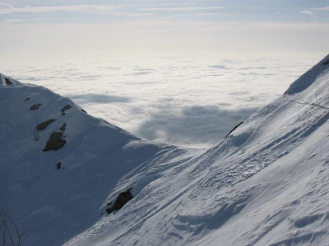 Verso lo spartiacque con la Val Savenca