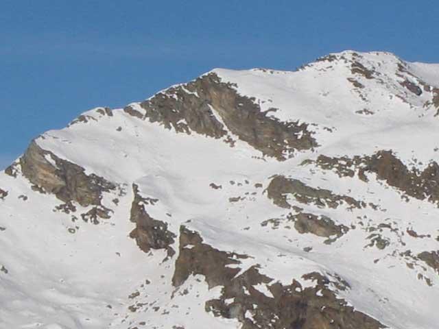La cima di Bonze dalla Biolley