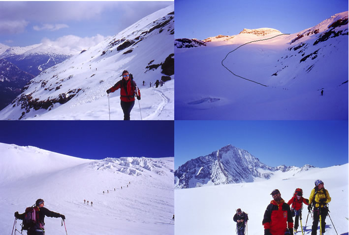 traverso sotto rifugio - ghiacciaio - Dent Parraché