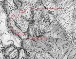 cartina tratta da IGC foglio 6 Monviso e via di salita seguita