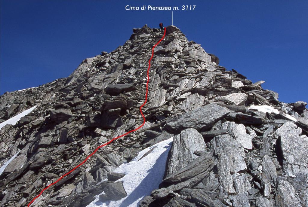 ultimi metri della cresta Ovest
