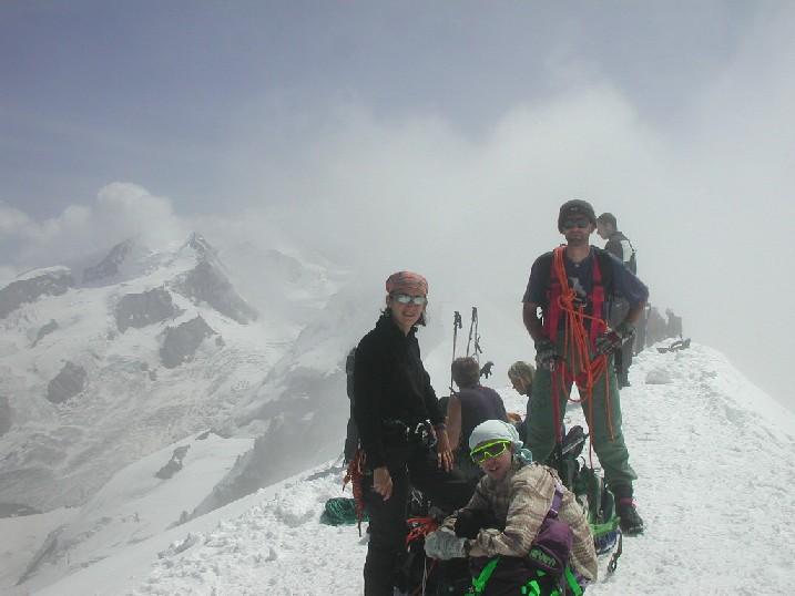 In cima al Breithorn, 05.08.2004