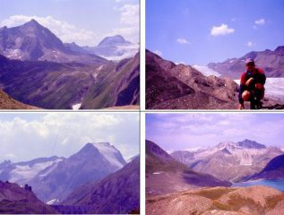 verso 1)Arbola 2)Gh. del Gries 3)HosandHorn 4)lago del Gries e Svizzera