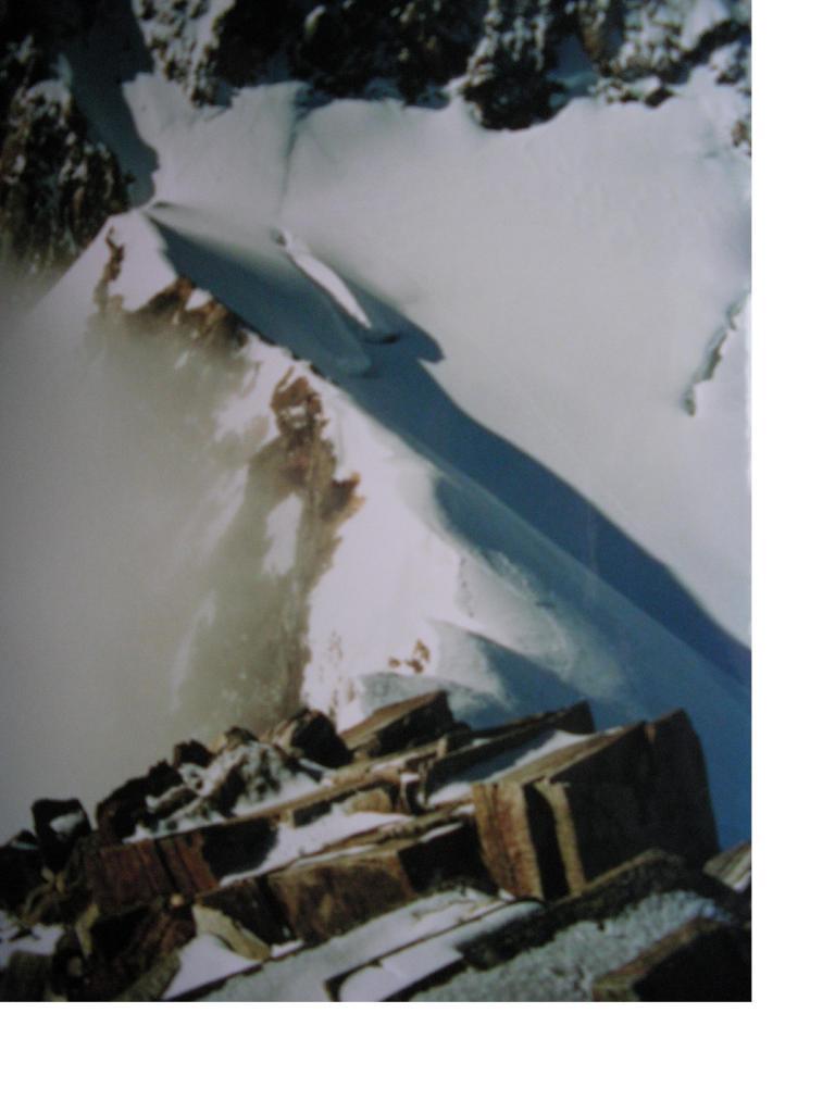 Tutta la cresta fin giu' alla Silbersattel dalla vetta...
