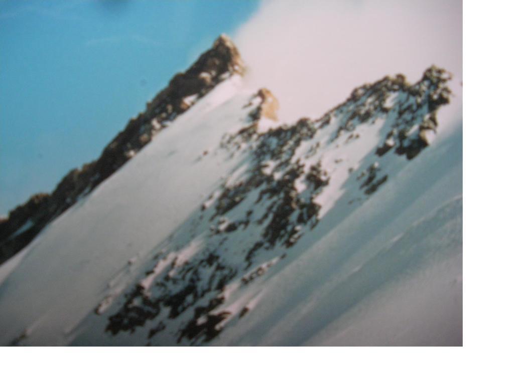 La cresta sud della Nordend dalla Silbersattel