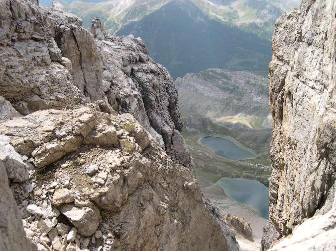 I laghi Roburent dal percorso in cresta