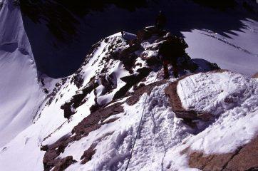 un tratto di misto nella parte alta della cresta (22-8-2004)