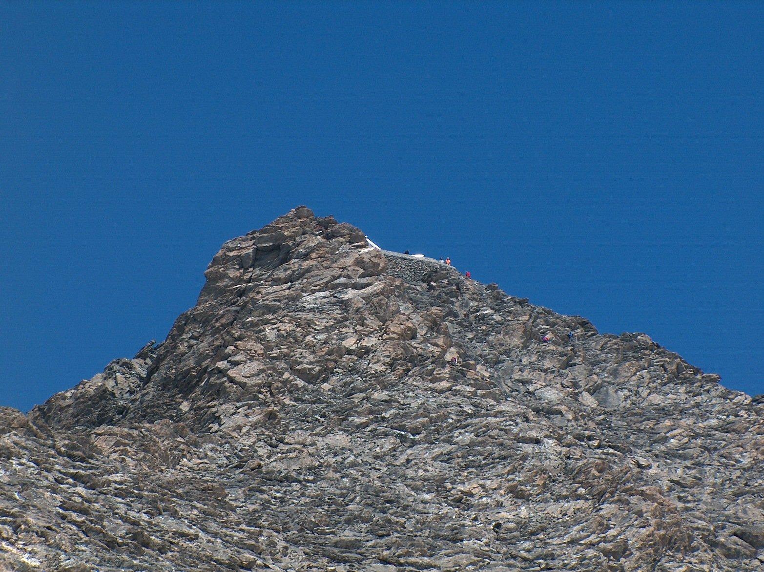 Ed ecco la vetta del Rocciamelone !